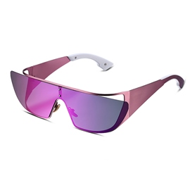 Ericdress Metal Frame Purple Lens Polarized Sunglasses