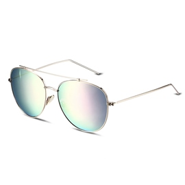 Ericdress Pink Ellipse Lens Polarized Aviator Sunglasses