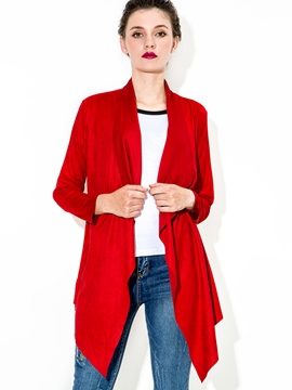 Ericdress Solid Color Wrapped Casual Trench Coat