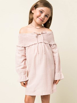 Ericdress Stripe Slash Neck Princess Sleeve Spring Dress