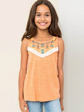 Ericdress Embroidery Geometric Girls Tank Top