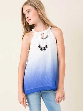 Ericdress Gradient Halter Slim Girls Tank Top