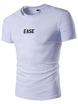 Ericdress Solid Color Short Sleeve Men's Muscle T-Shirt