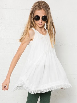 Ericdrees Plain Lace Backless Suspenders Dress