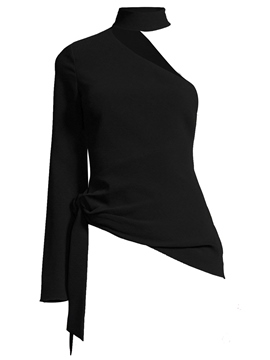 Ericdress One Sleeve Oblique Blouse