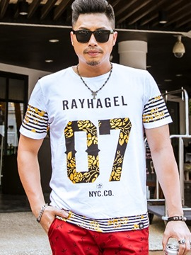 Ericdress Number Print Plus Size Casual Men's T-Shirt
