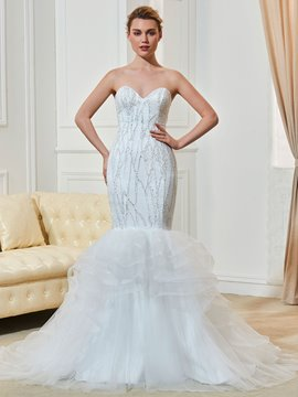 Ericdress Classic Beautiful Sweetheart Mermaid Lace Wedding Dress