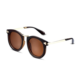 Ericdress Round Plastic Frame HD Lenses Polarized Sunglasses