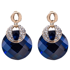 Ericdress Blue Crystal Glass European Style Women's Earrings
