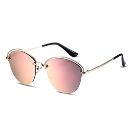 Ericdress Half Frame Pink Resin Lens Polarized Sunglasses