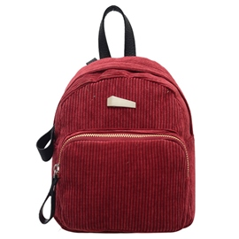 Ericdress All Match Velour Travel Backpack