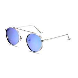 Ericdress Round Vintage Mirror Lenses Polarized Sunglasses