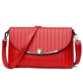 Ericdress All Match Vertical Stripe Shoulder Bag