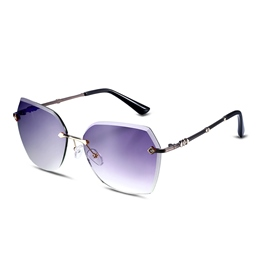 Ericdress Rimless Design HD Resin Lenses Anti-UV400 Sunglasses