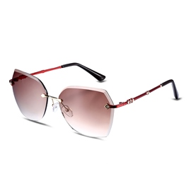 Ericdress Geometric Lens without Border Design Sunglasses