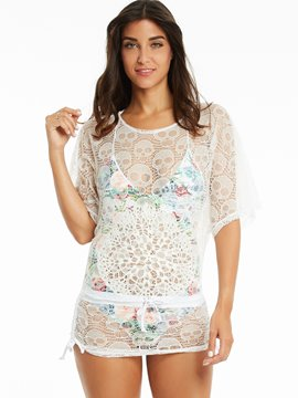 Ericdress Skull Half Sleeve Beach Cover Ups