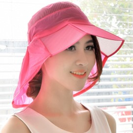 Ericdress Dome Crown Wide Brim Anti-UV Foldable Sun Hat