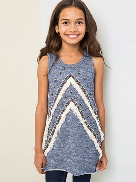 Ericdress Rivet SlimMid-Length Girls Tank Top