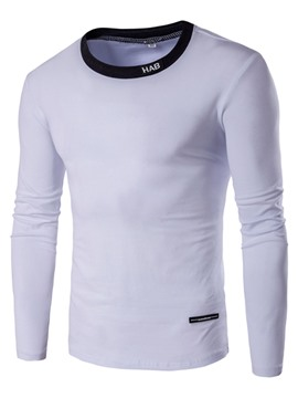 Ericdress Simple Long Sleeve Sports Slim Men's T-Shirt