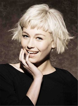Ericdress Short Choppy Bob With Bangs Synthetic Hair Capless Wigs 8 Inches