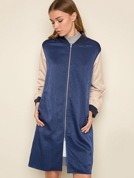 Ericdress BFstyle Color Block Zipper Jacket