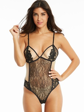 Ericdress Sexy See-Through Lace One Piece Swimwear