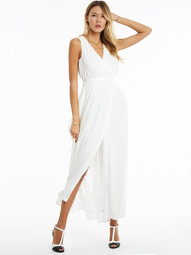 Ericdress Sleeveless PleatedExpansion Maxi Dress