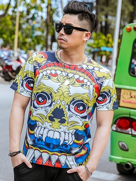 Ericdress Print Plus Size Unique Short Sleeve Men's T-Shirt