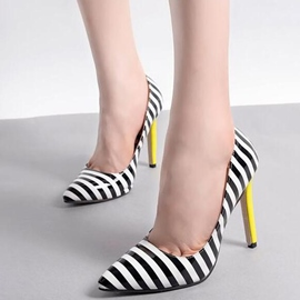 Ericdress Strip Print Point Toe Pumps