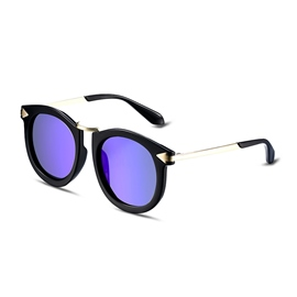 Ericdress Big Plastic Frame Blue Lenses Polarized Sunglasses