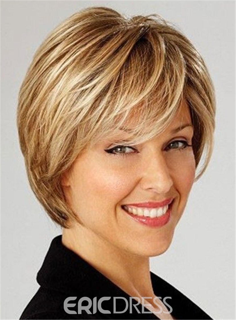 Ericdress Short Layered Shaggy Bob Straight Haircut Hairstyle Synthetic Hair Capless 10 Inches 12801082