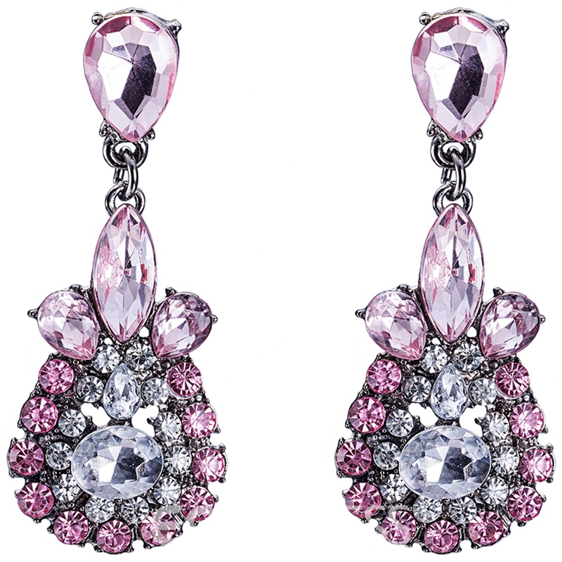 Ericdress Full Rhinestone Water Drop Alloy Women's Earrings