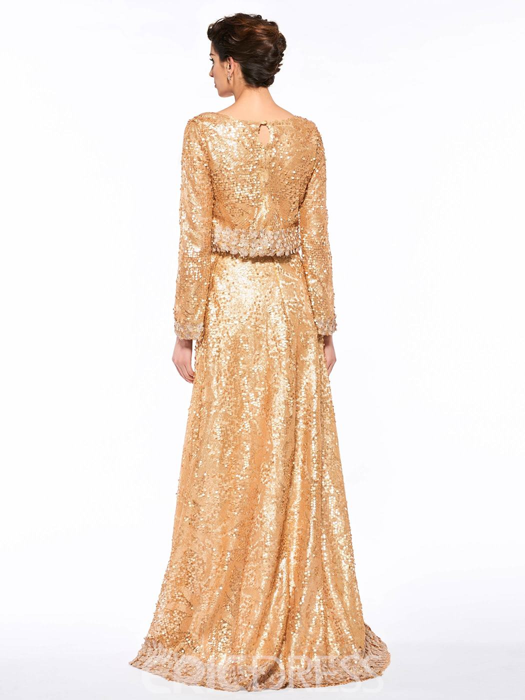 Ericdress Fashionable Bateau Sequins Long Sleeves Mother Of The Bride Dress
