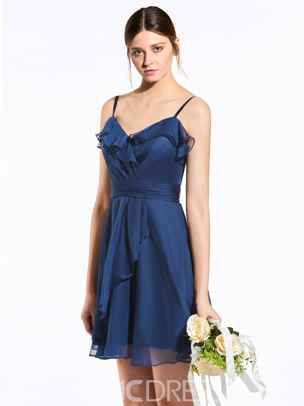 Ericdress Classic Spaghetti Straps A Line Short Bridesmaid Dress