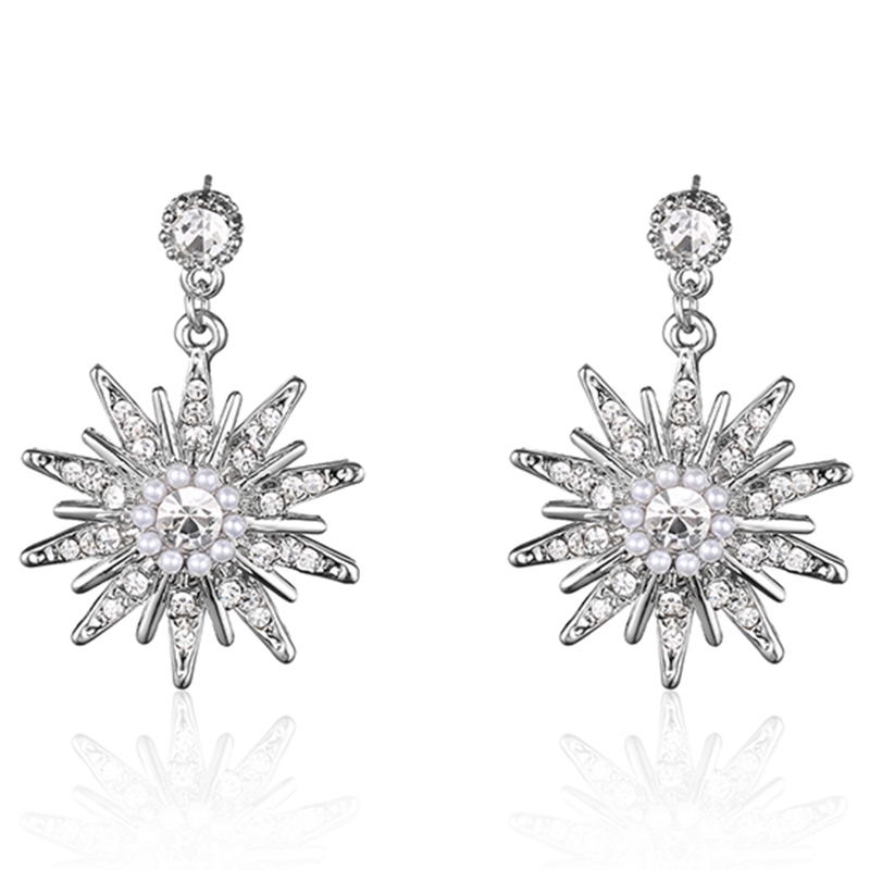 Ericdress Party Shining Rhinestone Flowers Women's Earrings