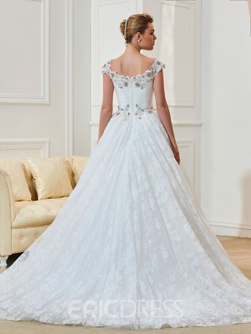 Ericdress A Line Lace Straps Wedding Dress With Beading