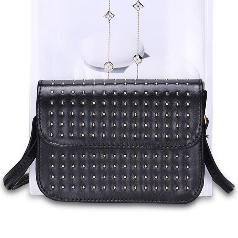 Ericdress Punk Rivets Decorated Crossbody Bag