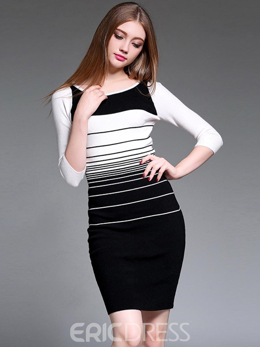 Color Block Strip Dress