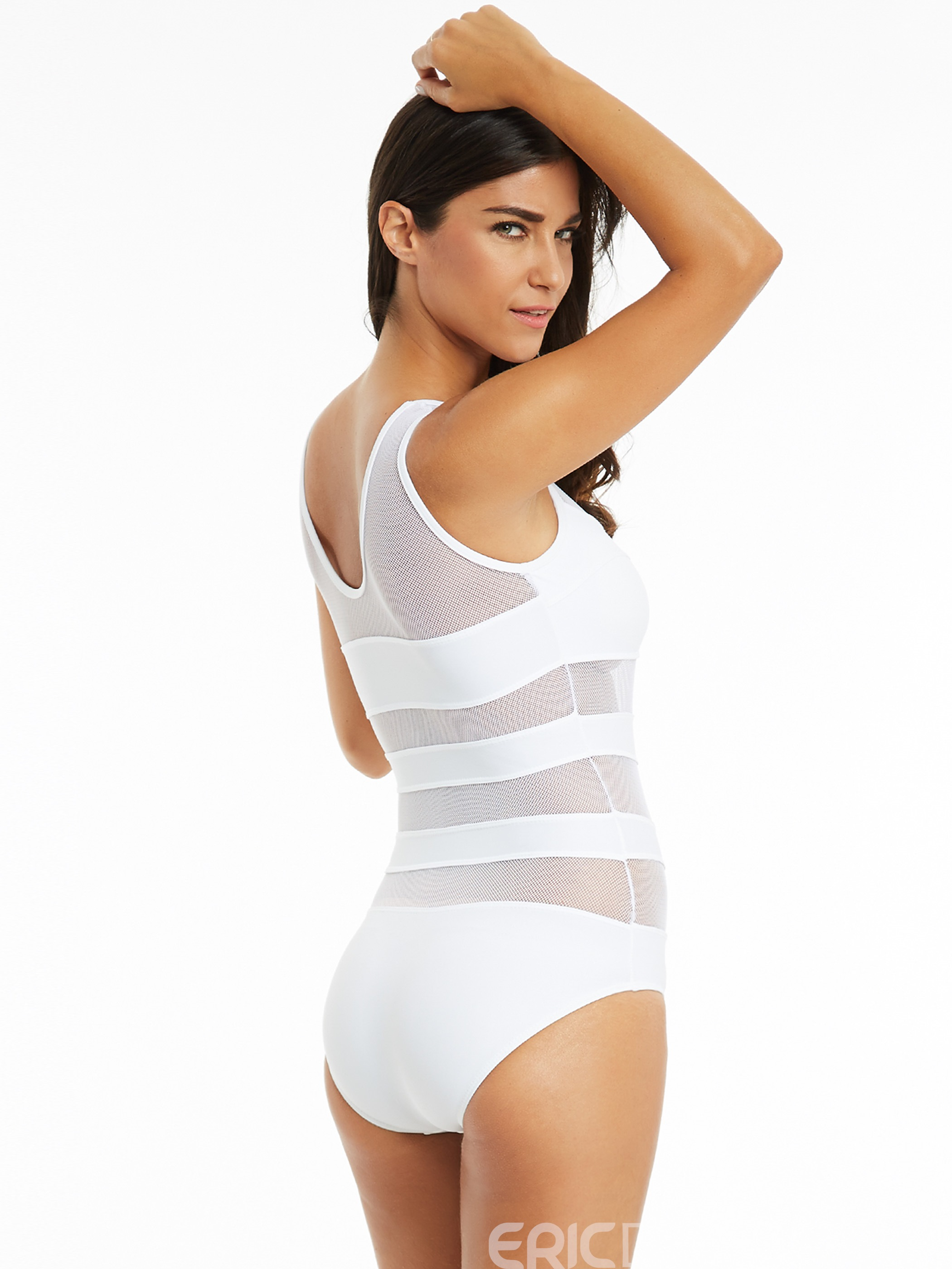 Ericdress Vogue See-Through One-Piece Swimsuit
