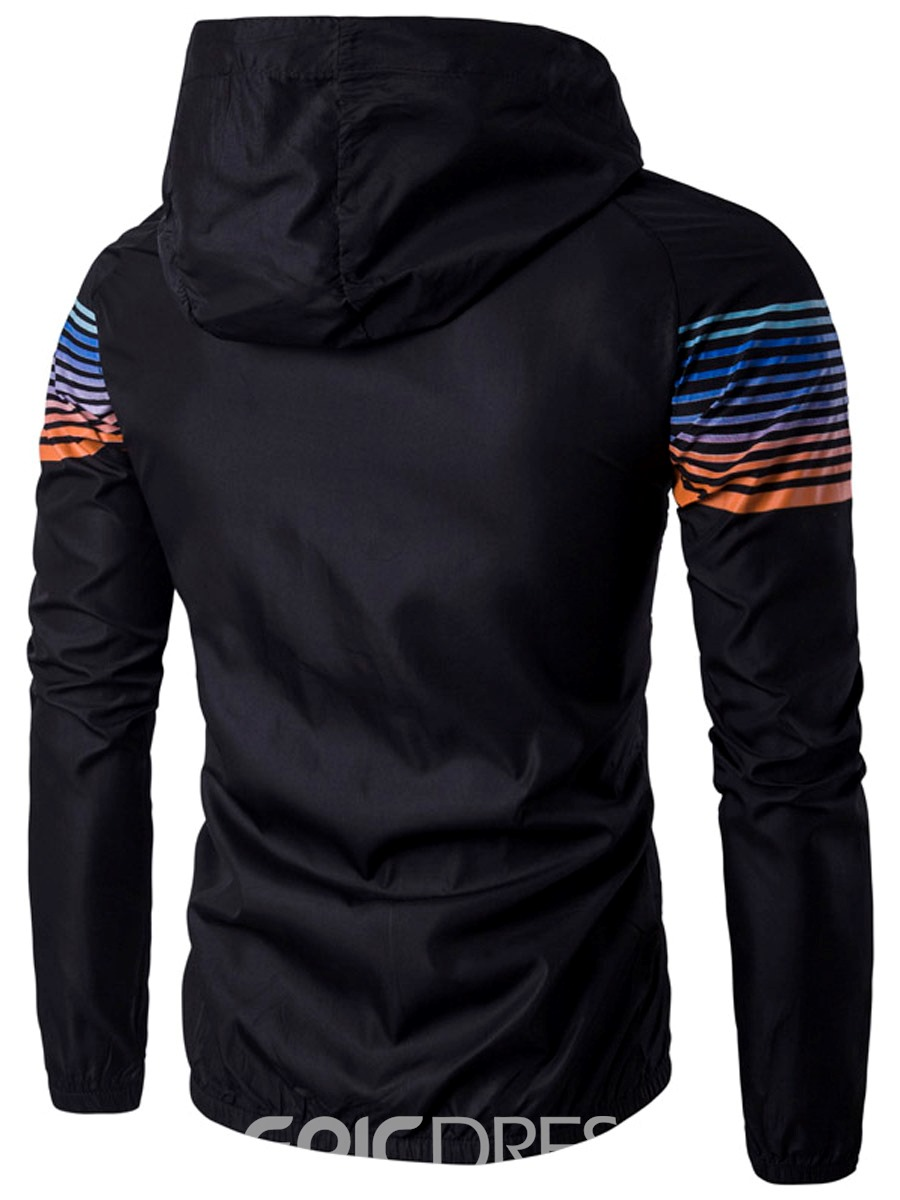 Ericdress Thin Stripe Sports Casual Men's Jacket