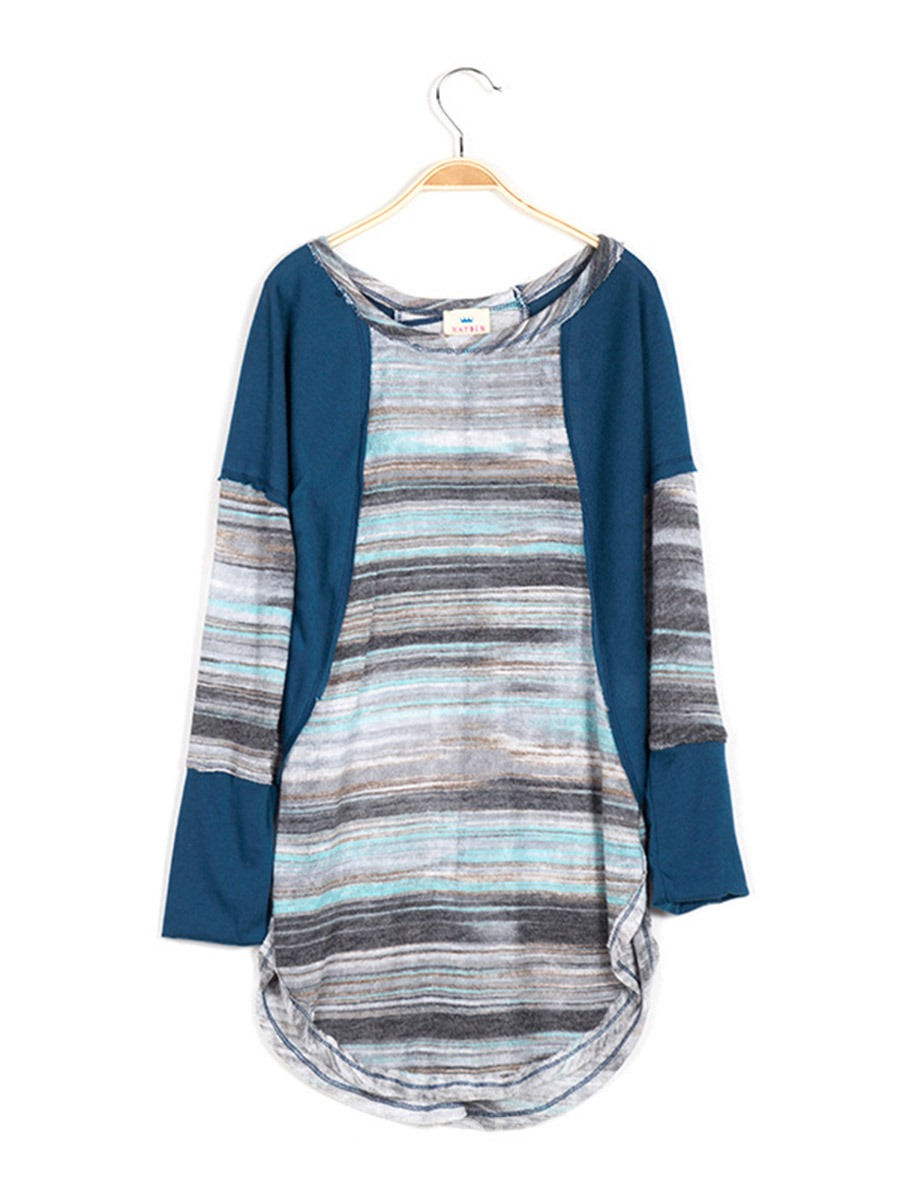 Ericdress Casual Style Loose Girls Long Sleeve Knit T-Shirt