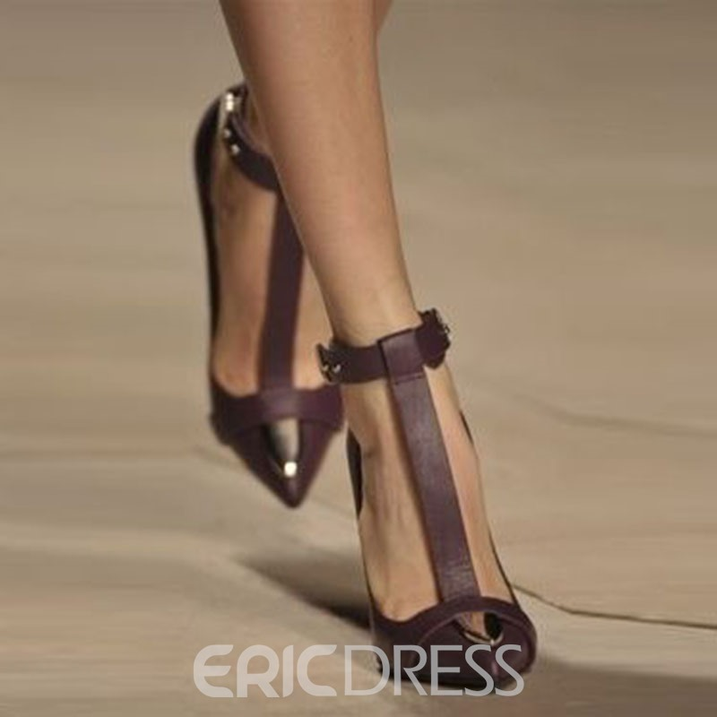 Ericdress Sexy T Strap Point Toe Stiletto Pumps
