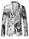 Ericdress One Button Pattern Print Quality Vogue Men's Blazer