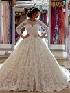 Ericdress Charming Ball Gown Lace Wedding Dress With Sleeves