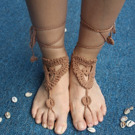 Ericdress Handmade Crochet Flower Anklets(Price for One Pair)