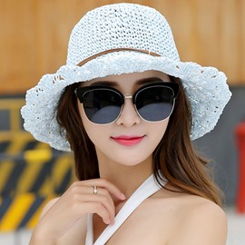 Ericdress Bowknot Design Breathable Foldable Sun Hat