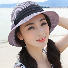 Ericdress Fine Foldable Double Colors Summer Straw Hat