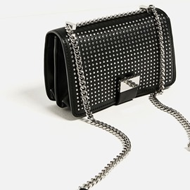 Ericdress Punk Style Rivets Decorated PU Shoulder Bag