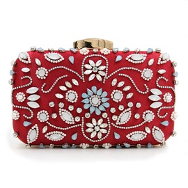 Ericdress Deluxe Rhinestone Decorated Beaded Evening Clutch