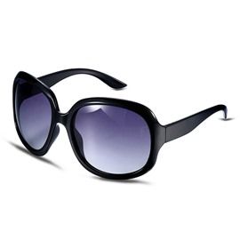 Ericdress Black Plastic Frame Retro Polarized Women's Sunglasses
